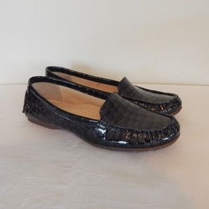 Hush Puppies Faux Croc Leather Loafers Women's 8